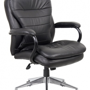 YS05H Titan Executive Medium Back 200kg Chair BLack Leather