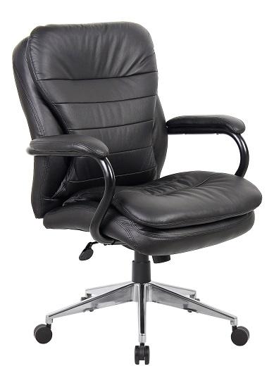 titan high back executive black leather 200kg office chair ioffice