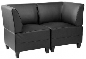 Diplomat Two Reception Seater Lounge Chairs Colour Black