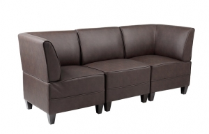 Diplomat 3 Seater Reception Lounge Chairs Colour Black