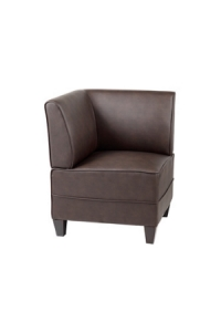 Diplomat Corner Seater Reception Lounge Chairs Colour Black