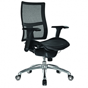 Zodiac Executive Black Mesh Back & Seat with Arms Office Chair