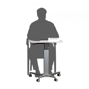 Lectern sit stand as desk on wheels