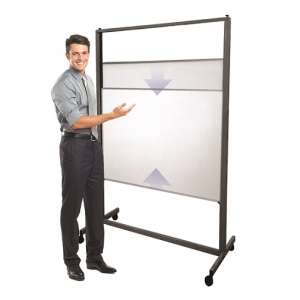Aspire Vertical Sliding Whiteboard on Wheels