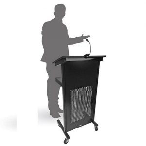 Professional Lectern Mobile Black