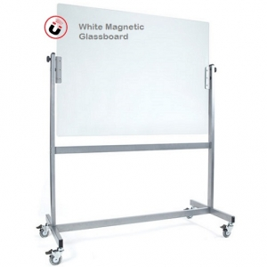 Space Mobile White Glassboard Revolving Double Sided