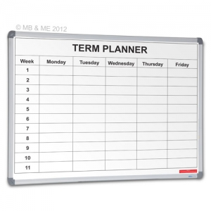 Weekly Term Planner Whiteboard