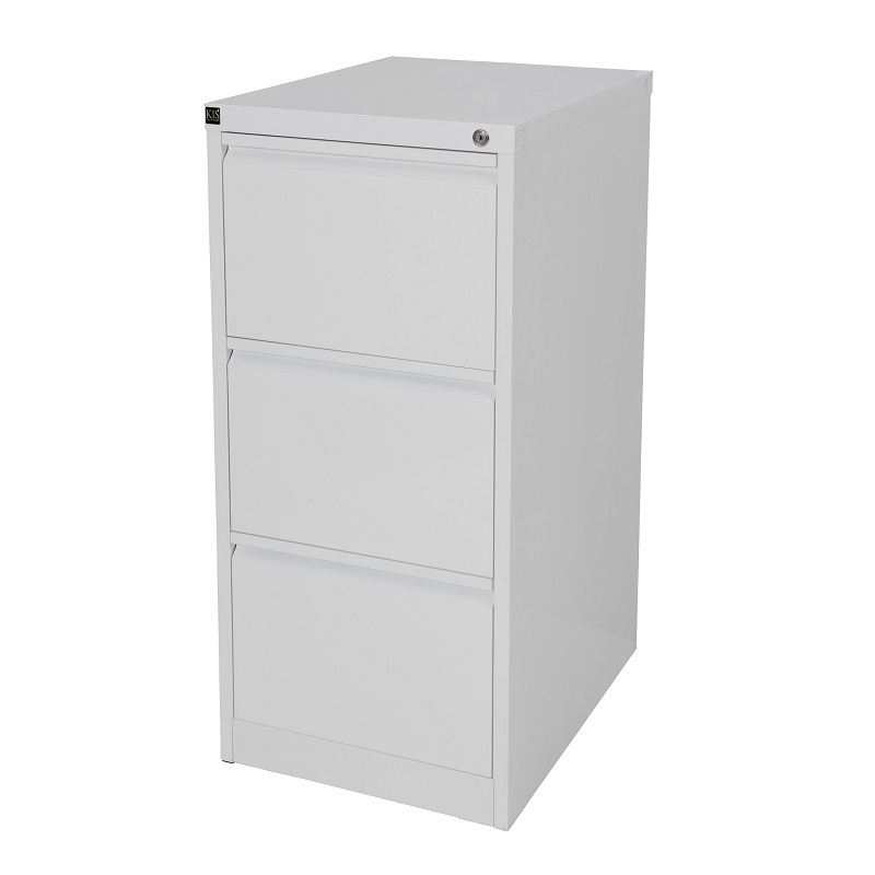 Kis Filing Cabinet 3 Drawer White Ioffice Furniture Sydney