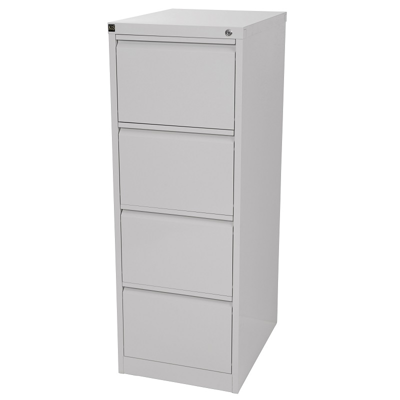 Kis Filing Cabinet 4 Drawer Grey Ioffice Furniture Sydney