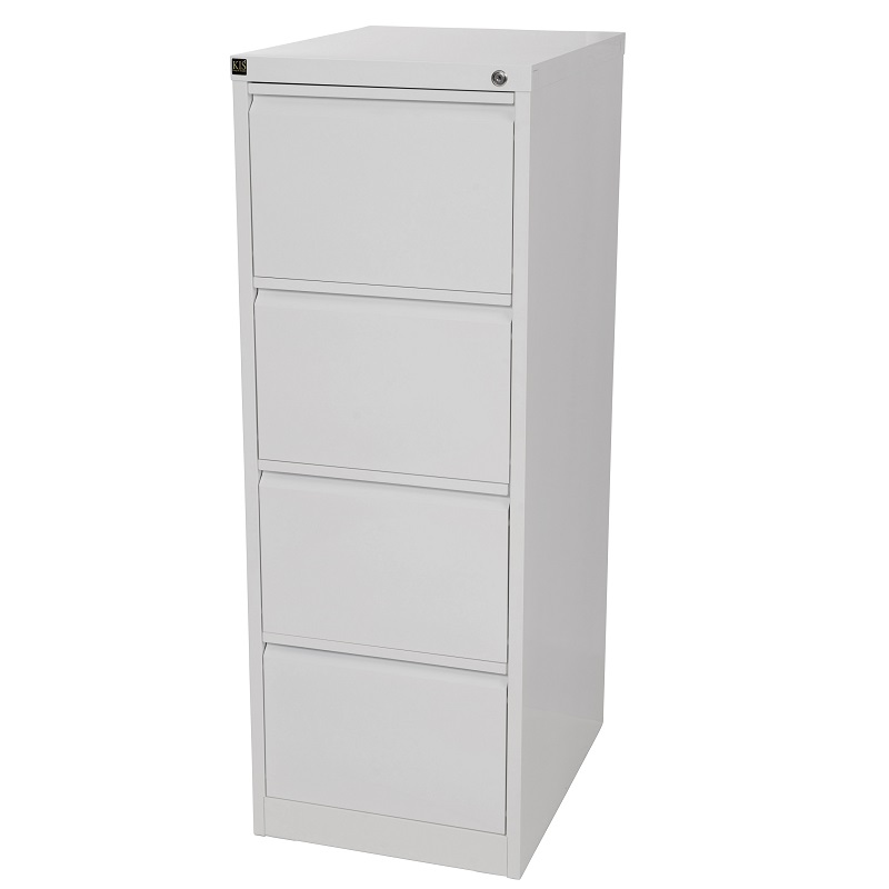 Kis Filing Cabinet 4 Drawer White Ioffice Furniture Sydney