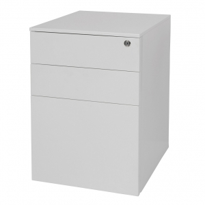 KIS metal mobile pedestal 3 drawers white