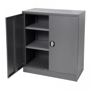 Kis stationery cabinet 1020H graphite ripple door open