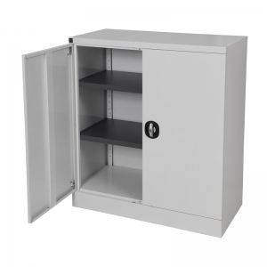 stationery cabinet 1020H grey door open