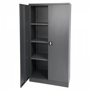 Kis stationery cabinet 1830H graphite ripple door open