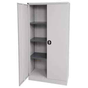 Kis stationery cabinet 1830H grey door open
