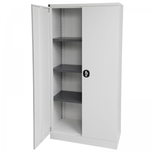Kis stationery cabinet 1830H white door open
