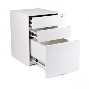 KIS metal mobile 3 drawers white