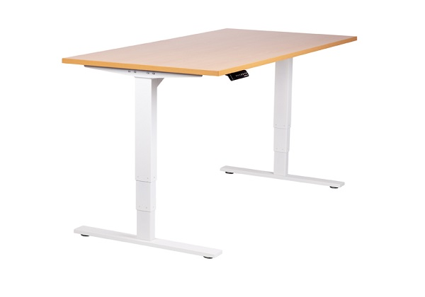 Surprising Vertilift Ergonomic Electric Height Adjustable Sit Stand Desk White Frame Download Free Architecture Designs Embacsunscenecom