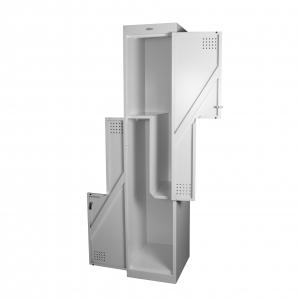 Steelco Personal Metal 2 Door Combo Locker Grey