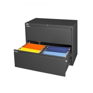 Steelco 2 Drawer Lateral Filing Cabinet Office Storage