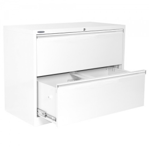 Steelco 2 Drawer Lateral Filing Cabinet Dual Option for Suspension Filing