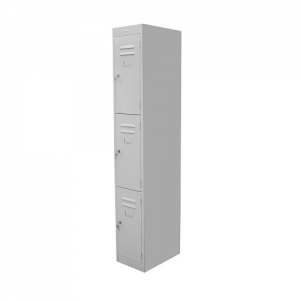 Steelco Personal 3 Door Locker 305W Silver grey