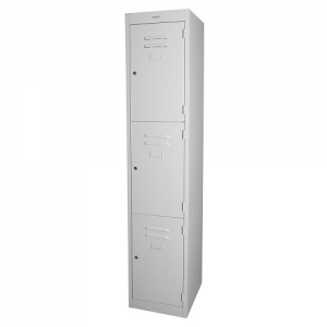 Steelco Personal 3 Door Locker 380W Silver Grey