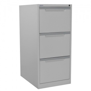 Steelco 3 Drawer Filing Cabinet Assembled Built Strong Storage Solution