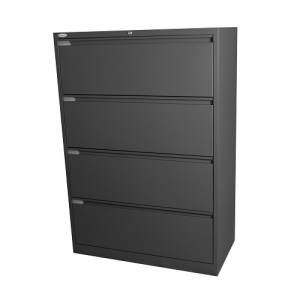 Steelco 4 Drawer Lateral Filing Cabinet Office Metal Furniture