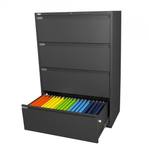 Steelco 4 Drawer Lateral Filing Cabinet Office Storage