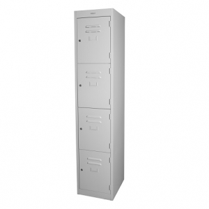 Steelco Personal 4 Door Locker Silver Grey