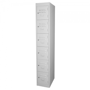 Steelco Personal 6 Tier Locker 305W Key Locking