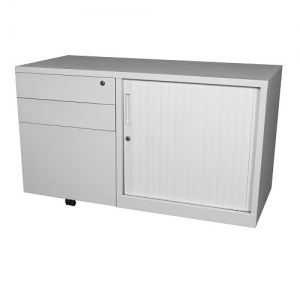 Steelco Mobile Caddy Tambour Door with LH Drawers Equip Your Office