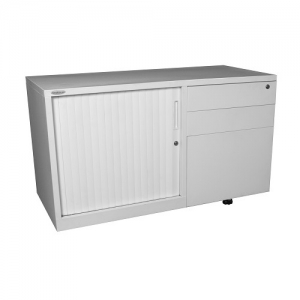 Steelco Mobile Caddy Tambour Door with RH Drawers Built Strong Sydney