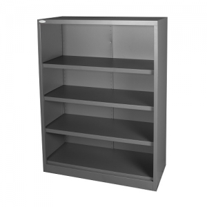 Steelco Open Metal Bookcase 1320H Graphite Ripple Storage Furniture