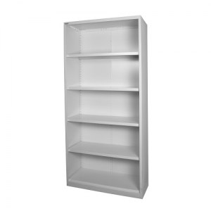Steelco Open Steel Bookcase 2000H White Satin