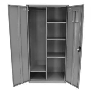 Steelco Personal Metal Wardrobe 1830H Silver Grey