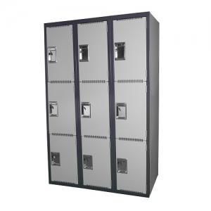 Steelco 3 Door School Lockers Heavy Duty Steel 380W