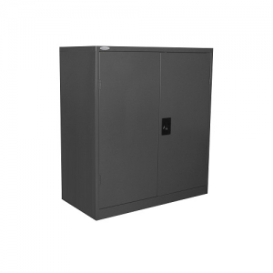 Steelco Stationery Half Height Cabinet Graphite Ripple