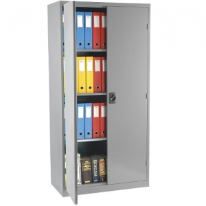 Steelco Stationery Storage Cabinet 1830H Silver Grey Open