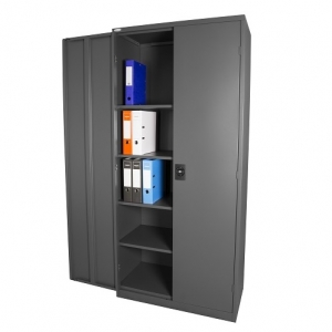 Steelco Stationery Storage Cabinet 2000H Graphite Ripple
