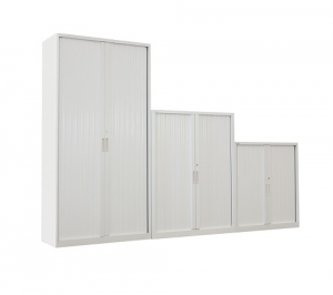 Steelco Tambour Door Cabinet Retractable Door Storage Solution