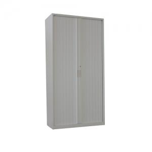 Steelco Tambour Door Cupboard 2000H x 900W Retractable Door Silver grey