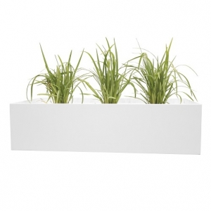 Steelco Tambour Planter Box Indoor White
