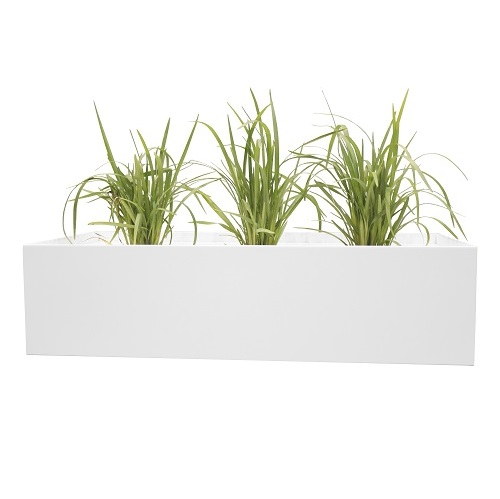 Steelco Office Planter Box White I Office Furniture