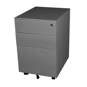 Steelco Trimline 390W Moible Silver Grey Steel Desk Pedestal Storage