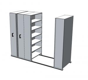APC Ezi-Slide Aisle Saver 2500(L) x 2175(H) x 1200(W) x 400(D) with 5 Shelves Per Bay (1)