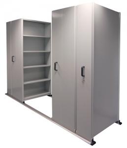 APC Ezi-Slide Aisle Saver 3500(L) x 2175(H) x 1200(W) x 400(D) with 5 Shelves Per Bay (1)
