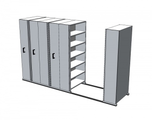 APC Ezi-Slide Aisle Saver 3500(L) x 2175(H) x 1200(W) x 400(D) with 5 Shelves Per Bay