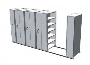 APC Ezi-Slide Aisle Saver 4500(L) x 2175(H) x 1200(W) x 400(D) with 5 Shelves Per Bay